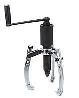 Съемник двух-трехлапый переставной гидравлический10т, (Ø захвата: 75-300мм, длина лап - 270мм, ход
