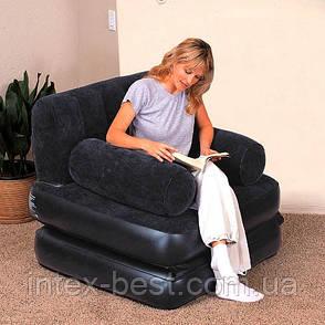 Надувное кресло-трансформер 2 в 1 Bestway 67277, фото 2