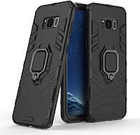 Чохол Iron Ring для Samsung Galaxy S8 броньований бампер Броня Black