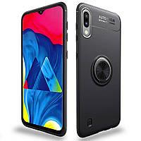 Чехол TPU Ring для Samsung Galaxy M10 2019 / M105 бампер с кольцом Black