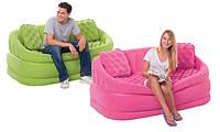 Надувной диван Intex 68573 Зелёный Cafe Loveseat, фото 1