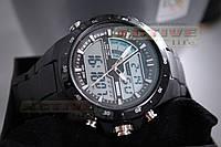 Мужские спортивные часы Skmei 1016 (black) (ВІДЕО)