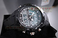 Мужские спортивные часы Skmei 1016 (black) (ВІДЕО), фото 1