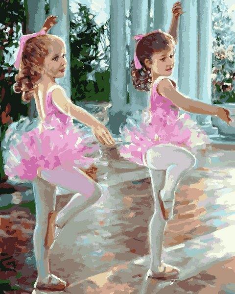 MR-Q2244 Набір живопису за номерами Маленькі балерини