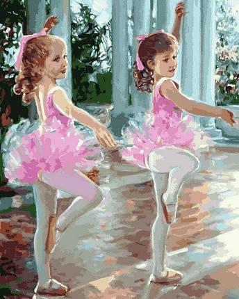 MR-Q2244 Набір живопису за номерами Маленькі балерини, фото 2