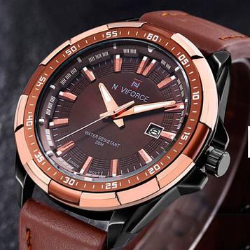 Naviforce Мужские классические кварцевые часы Naviforce Advanter Brown 1064