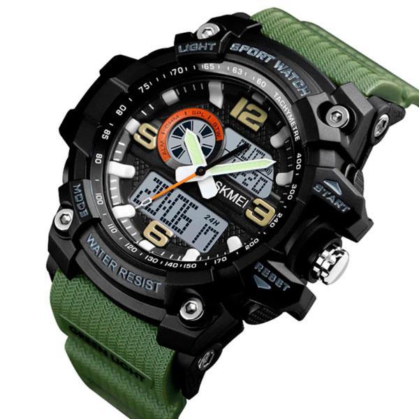 Skmei Мужские спортивные кварцевые часы Skmei Disel Green 1283