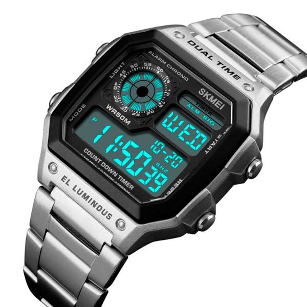 Skmei Мужские спортивные водостойкие часы Skmei Ripple Silver 1335S
