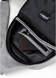 Cумка через плечо слинг Sambag Brooklyn MQH светло-серый нубук, фото 4