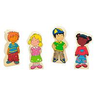 Набір магнітних фігурок Viga Toys Діти (59699VG)
