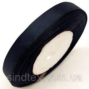 Лента репсовая 1,2 см. (12мм) черная (СИНДТЕКС-0798)