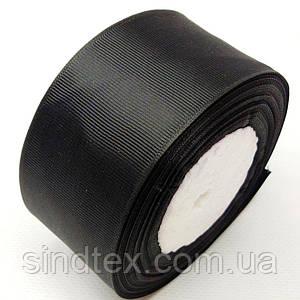 Лента репсовая 5 см. (50мм) черная (СИНДТЕКС-0808)