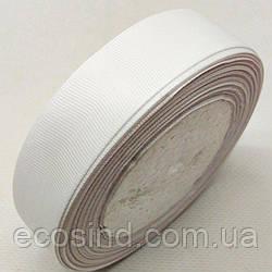 Лента репсовая 2,5 см. (25мм) белая (СИНДТЕКС-0803)