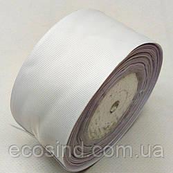 Репсова стрічка 5 див. (50мм) біла (СИНДТЕКС-0807)