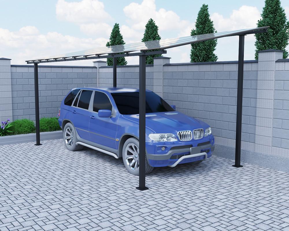 Автомобильный навес Oscar Strong Long 3830х6190х2757 мм двойной слой молотковой краски, каркас SKL54-241003