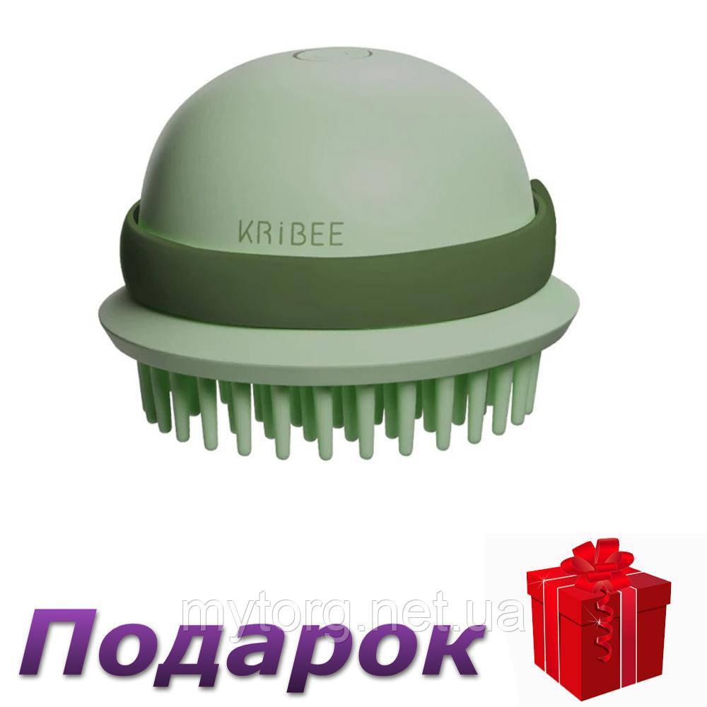 Умная расческа Xiaomi Kribee электрическая Виброрасческа  Зеленый