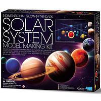 Научная игра для экспериментов опытов детская 4M 3D-модель Солнечной системы (00-05520)
