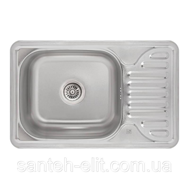 Кухонная мойка Lidz 6642 Satin 0,8 мм (LIDZ664208SAT)