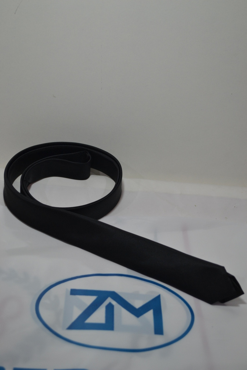 Узкий черньій галстук ZERMON  (4cм и 5.5 см)