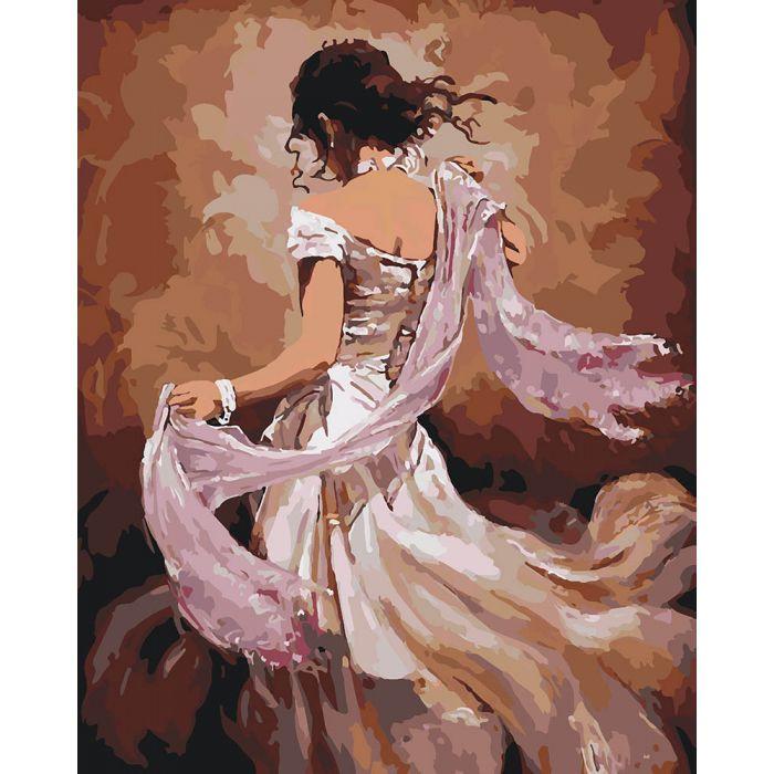 """Яркая картина раскраска по номерам Люди """"Танцовщица фламенко"""" 40х50 см KHO2682 живопись рисование в цифрах на"""