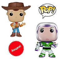 Набор фигурок Funko Pop Вуди, Баз Светик, Лайтер из м-ф История игрушек - Woody Buzz, Toy Story M14-156204