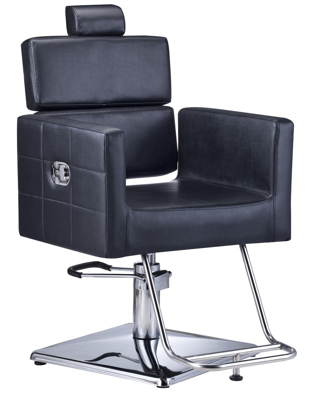 Парикмахерское кресло с экологической кожи Calissimo черное PAVLO