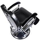Парикмахерский стул барбершопера с эко кожи Barber King черное LEON, фото 4