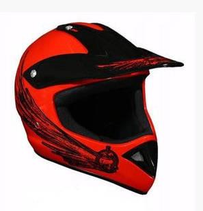 Мотошлем Cross Enduro красный с черным