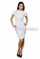 Летнее платье с открытой молнией белый, фото 1