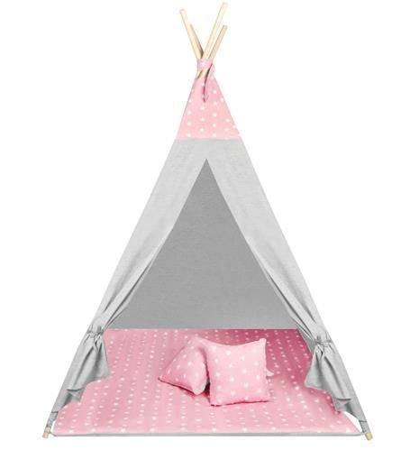 Детская палатка WigWam 160 × 115 см розовые звезды