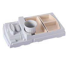 Детская бамбуковая посуда Поезд, набор из 2-х тарелок и чашки BP18 Train Blue SKL25-149788