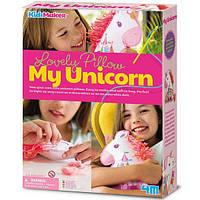Игра Cделай сам для детей рукоделие хендмейд 4M Декоративная подушка Единорог (00-04744)