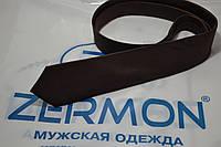 Узкий коричневьій галстук ZERMON  (5,5cм), фото 1