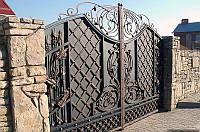 Кованые ворота с крепкого метала