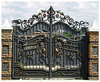 Ворота кованые для защиты