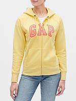 Женская толстовка худи GAP art952826 кофта (Желтый, размер S)