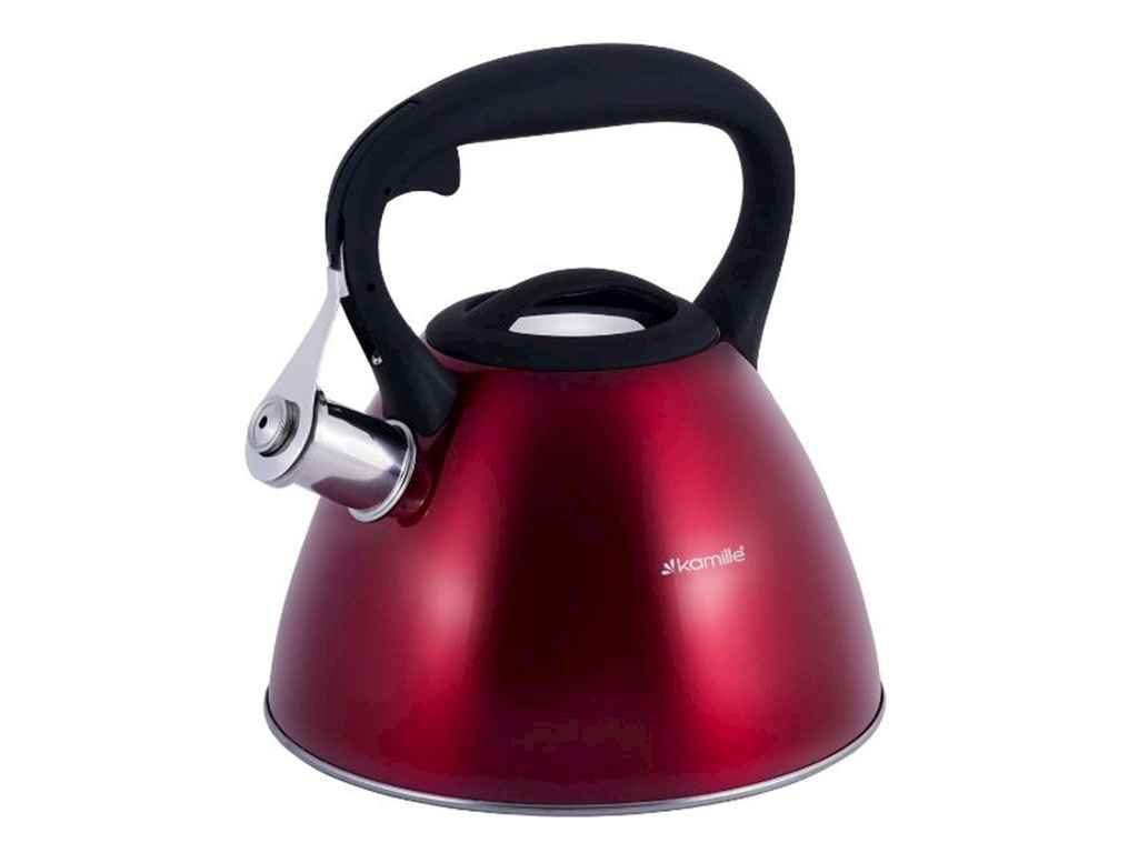 Чайник 3л (червоний) 0651C ТМ KAMILLE
