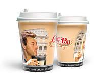 Бумажный стакан для кофе с логотипом Caffe Poli (250 мл)