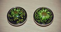 Сменная кнопка нуса с зеленым цветком