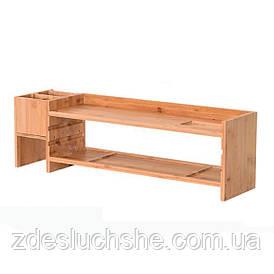Бамбукова підставка для монітора Органайзер робочого простору BS02 SKL25-223335