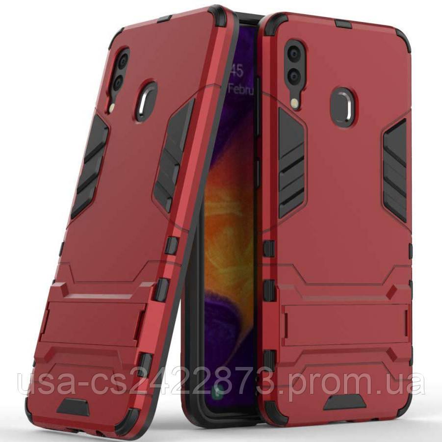 Ударопрочный чехол-подставка Transformer для Samsung Galaxy A20 / A30 с мощной защитой корпуса