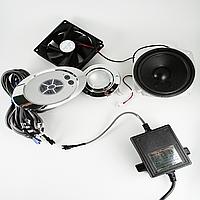 Блок управления, пульт душевой кабины кнопочный с радио ( Бу-17 ) Овальной формы. Полная комплектация