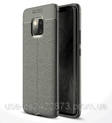 TPU чехол iPaky Litchi Series для Huawei Mate 20 Pro