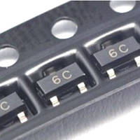 Чип BC817-40 BC817 6C, SOT23 транзистор биполярный NPN 10 шт