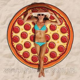 Пляжный коврик Пицца 143 см SKL32-152679