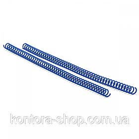 Спіраль пластикова А4 14 мм (4:1) синя, 100 штук