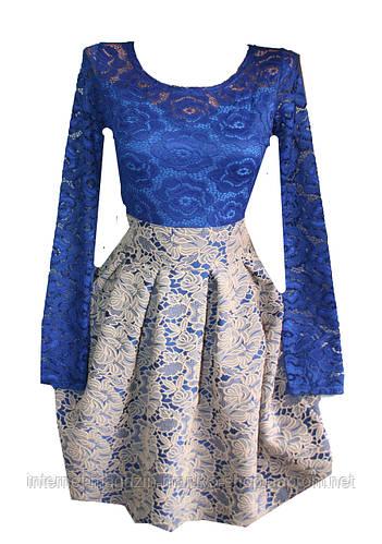 Женское платье гипюр жаккард