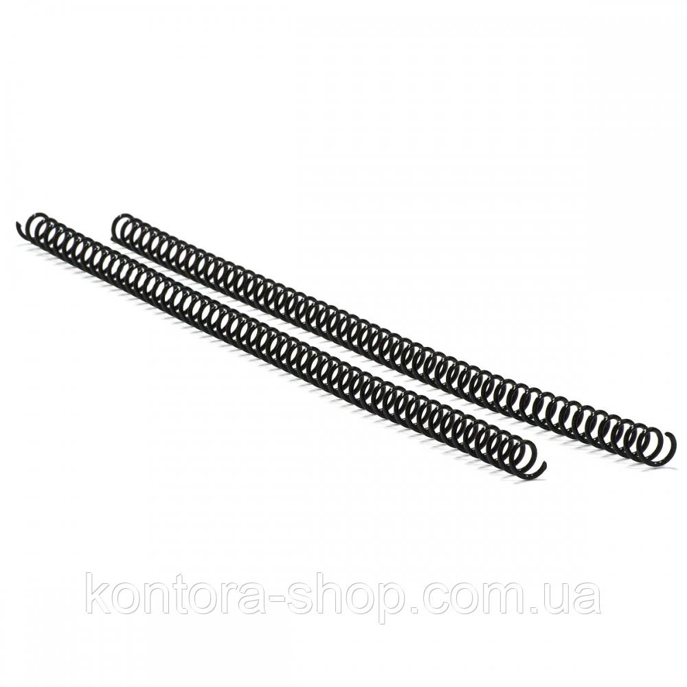 Спираль пластиковая А4 12 мм (4:1) черная, 100 штук