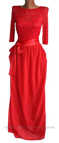 Женское платье гипюр шифон