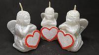 Свечи декоративные ко Дню Святого Валентина Ангел с сердцем 8,5*5 см